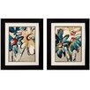 Propac Images Blooming Blue 2 Piece Framed Painting Print Set