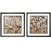 <strong>Dogwood Square 2 Piece Framed Graphic Art Set</strong> by Propac Images