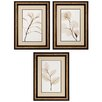 <strong>Propac Images</strong> Sage Salal Eucalypt 3 Piece Framed Graphic Art Set