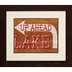 Propac Images Cabin Lake 2 Piece Framed Textual Art Set