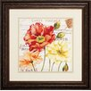 Propac Images Le Fleur Poppy 2 Piece Framed Graphic Art Set