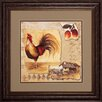 Propac Images Rooster Montage 2 Piece Framed Graphic Art Set