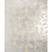 <strong>Damask Graphic Art on Canvas in Cream and Silver</strong> by Propac Images
