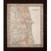 Propac Images Plan of Chicago Framed Wall Art