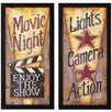 "Lights and Movie Print Set - 14"" x 28"""