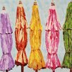 Paragon Beach Umbrellas Painting Print on Canvas