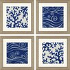 Paragon Ocean Motifs Giclee by Vess 4 Piece Framed Graphic Art Set