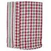 Textiles Plus Inc. 4 Piece Plain Weave Checker / Stripe Kitchen Towel Set