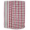 Textiles Plus Inc. 4 Piece Plain Weave Checker / Striped Kitchen Towel Set