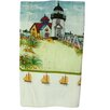 <strong>Textiles Plus Inc.</strong> Printed Light House Kitchen Towel (Set of 2)