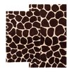 Safari Giraffe Contemporary Bath Rug (Set of 2)
