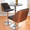 <strong>LumiSource</strong> Galanti Adjustable Swivel Bar Stool