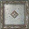 "Daltile Metal Signatures Diamond Weave 4"" x 4"" Floor Border Corner Tile in Aged Iron"