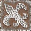 """Daltile Metal Signatures Fleur de Lis 2"""" x 2"""" Decorative Tile in Aged Iron"""