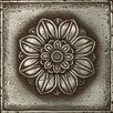 "Daltile Metal Signatures Rosette Pointed 6"" x 6"" Decorative Tile in Aged Iron"