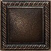 "Ion Metals 2"" x 2"" Decorative Rope Accent Tile in Antique Bronze"