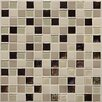 "Daltile Keystones Blends 1"" x 1"" Porcelain with Oceanside Glass Mosaic Tile in Sunset Cove"