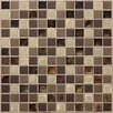 "Daltile Keystones Blends 1"" x 1"" Porcelain with Oceanside Glass Unpolished Mosaic in Treasure Island"
