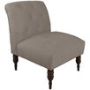 Skyline Furniture Regal Velvet Tufted Side Chair