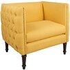 Skyline Furniture Linen Tufted Nail Button Arm Chair