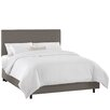 Skyline Furniture Twill Cotton Upholstered Panel Bed