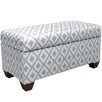 Skyline Furniture Ikat Upholstered Storage Bedroom Bench