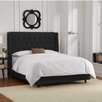 Skyline Furniture Velvet Upholstered Wingback Bed