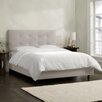 Skyline Furniture Velvet Upholstered Panel Bed