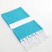 Linum Home Textiles Diamond Weave Pestemal in Blue