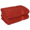 Linum Home Textiles Herringbone Weave Bath Towel (Set of 2)