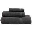 Linum Home Textiles Herringbone Weave 100% Turkish Cotton 3 Piece Towel Set