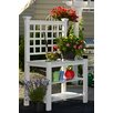 New England Arbors Burbank Rectangle Potting Bench