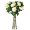 Nearly Natural Giant Peony Silk Flower Arrangement in White