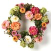 "<strong>Nearly Natural</strong> 24"" Peony Wreath"