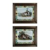 Sterling Industries Rabbits with Border 2 Piece Framed Graphic Art Set