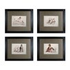 Sterling Industries Dog Duos 4 Piece Framed Graphic Art Set