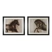 <strong>Sterling Industries</strong> Dynamic Stallion 2 Piece Framed Painting Print Set