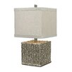 "Sterling Industries Silver Bamboo 22"" H  Table Lamp with Drum Shade"