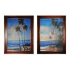 Sterling Industries Embellished Tropical Breeze 2 Piece Framed Painting Print Set