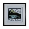 Sterling Industries Travel To The Orient Framed Vintage Advertisement