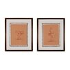 Sterling Industries Graceful Pose 2 Piece Framed Painting Print Set