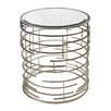 Sterling Industries Contemporary Sculptural Metal Work Side Table with Glass Top