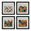 <strong>Custom Geometric 4 Piece Framed Graphic Art Set</strong> by Sterling Industries