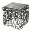 Sterling Industries Alvis Metal and Antique Mirror Side Table