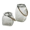 <strong>Sterling Industries</strong> 2 Piece Glass Jar Vase Set