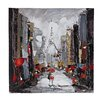 Sterling Industries Paris Scene Oil Painting Print on Canvas