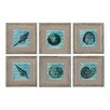 <strong>Sterling Industries</strong> Chevron Shell 6 Piece Framed Graphic Art Set