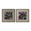 Sterling Industries Mersey in Linen and Nail Head Surround 2 Piece Framed Graphic Art Set