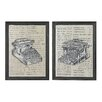 <strong>Sterling Industries</strong> Antique Typewriter 2 Piece Framed Graphic Art Set