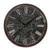 """<strong>Oversized 24"""" Map Of The World Printed Wall Clock</strong> by Sterling Industries"""